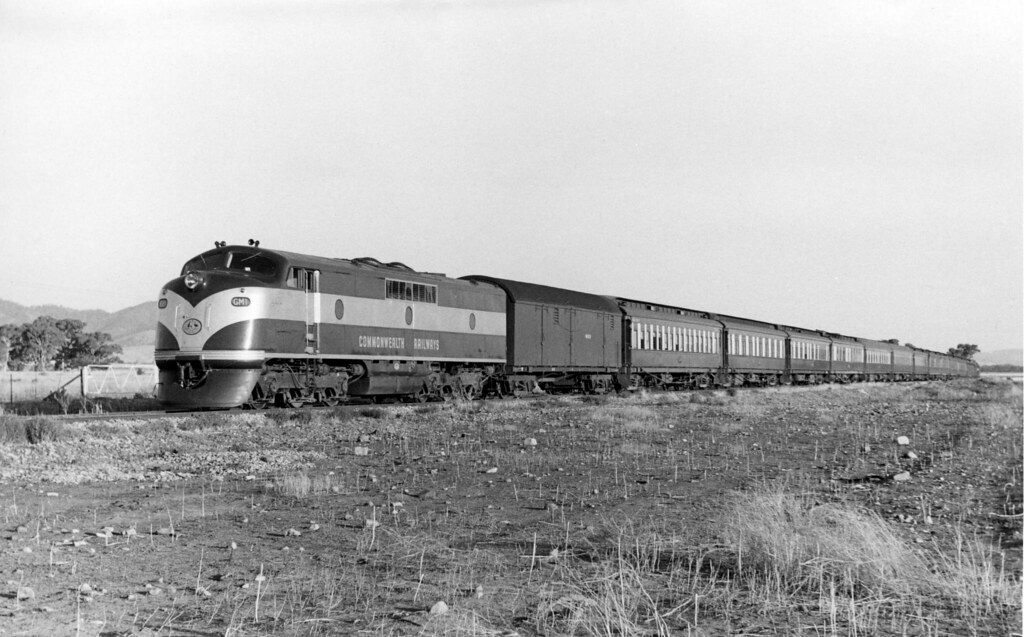 cme136 - GM1 locomotive hauling passenger train at 29 Miles on straight by Chris