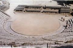 amphitheatre, aerial photography, stadium, arena,