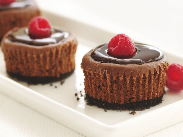 "Healthified"" Mini Chocolate Cheesecakes Recipe 