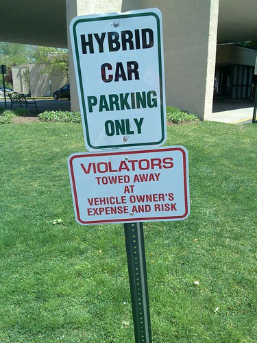 Hybrid car parking only