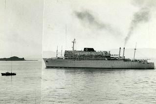 """SS """"Argentina"""" ved Munkholmen (ca. 1964)"""