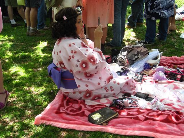 Getting ready for high tea at Sakura Matsuri 2010. Photo by Rebecca Bullene.