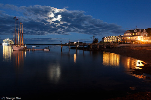 Nightscape  of Bar Harbor,Maine