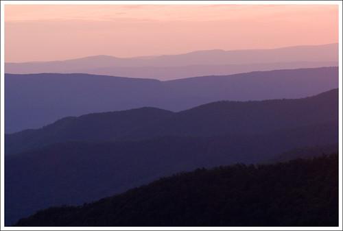 park sunset mountains virginia layers blueridge skylinedrive shenandoahnationalpark snp