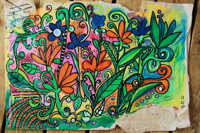 Big Brown Paper Doodle