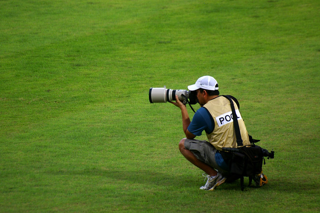Photographer on the field.