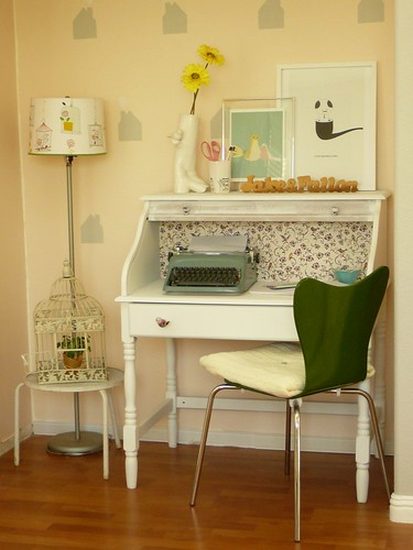 My writing nook - redecorated
