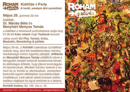 Dr. Máriás Béla és Menyhárt Menyus Tamás kiállítása