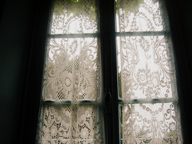 Monet 39 s lace curtains flickr photo sharing for Old world curtains and drapes