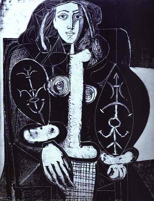 Pablo Picasso - Woman in an Armchair I   Explore jmussuto ...