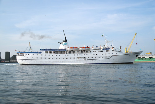Adriana III cruise ship @ Dublin by 'Longreach' by Jonathan McDonnell