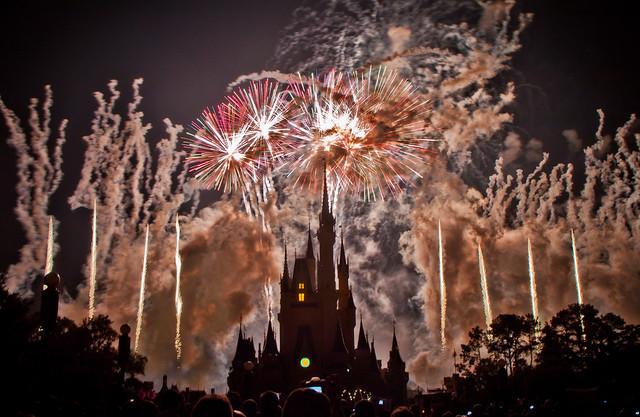 Cinderella's Castle a Silhouette