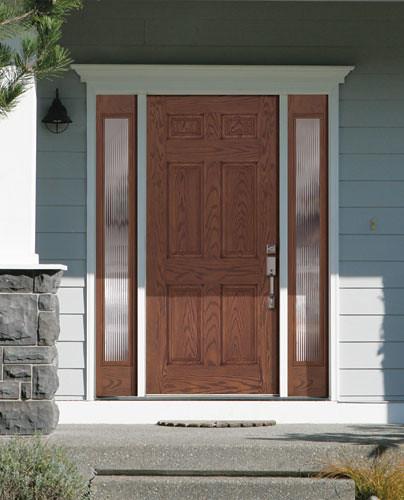 Feather River Door Fiberglass Entry Doors Medium Oak Door Sidelites Flickr Photo Sharing