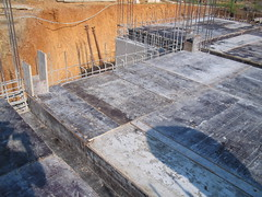 reinforced concrete, wall, foundation, iron, construction,