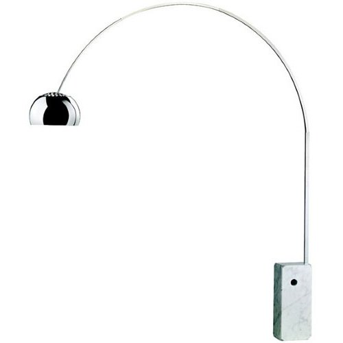lampadaire lampe arco socle marbre 60kg blanc design ebay. Black Bedroom Furniture Sets. Home Design Ideas