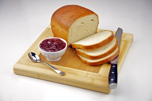Homemade White Bread with Strawberry Jam by TheCulinaryGeek