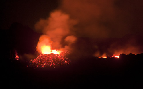 Piton de la Fournaise in Eruption