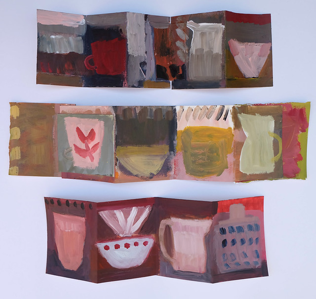 three paintings/books