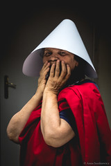 """Preparation for the """"Handmaid's Tale"""" protest in Warsaw"""