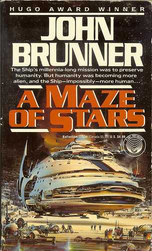 A Maze of Stars - John Brunner - cover artist  John Berkey