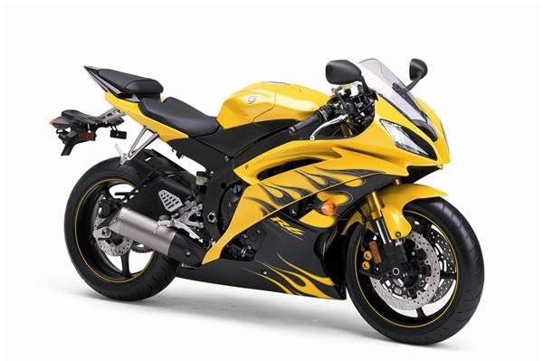 Yamaha R Yellow Flame