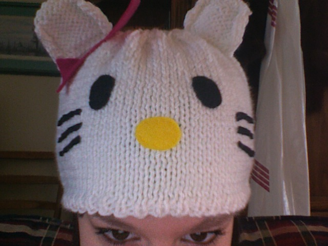 Knitting Pattern For Hello Kitty Hat : Knit Hello Kitty Hat Flickr - Photo Sharing!