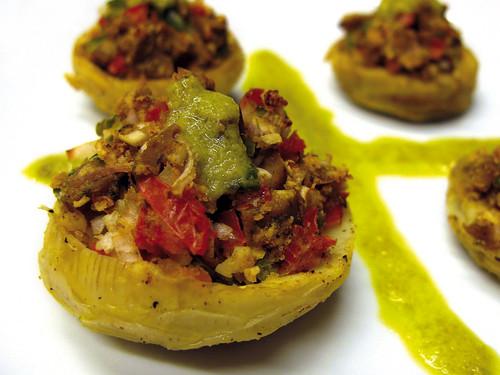 stuffed artichoke bottoms new orleans | fondos de alcachofa rellenos nueva orleans