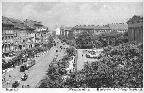 Old postcards of Budapest – Boulevard of the National Museum
