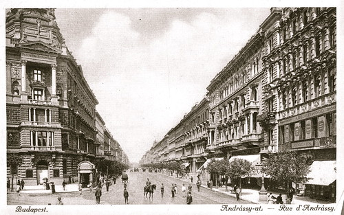 Old postcards of Budapest – Andrassy Street