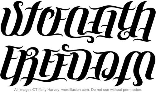 "Strength"" & ""Freedom"" Ambigram | Flickr - Photo Sharing!"
