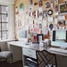 desk & corkboard wall Elle Decor by The Estate of Things