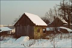 an abandoned hut
