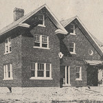 The two-story brick residence of Emmett Dwyer was originally only identified in the Resident Directories of the Norwester Magazine as located on the corner of Cambridge Boulevard and Concord Road. It was sold to W. L. Arnett in the fall of 1918. By 1920, the home had again been sold, this time to William Blackstone Hord.This image available online at the UA Archives >>View the related 'Norwester' magazine advertisement at the UA Archives >>----------------------------------------Identifier: hinw02p032i01Date (yyyy-mm-dd): c. 1917-12Original Dimensions: 9.6 cm x 6.2 cm Format: Black and White Halftone PhotographSource: Norwester, December 1917, page 32Original Publisher: Upper Arlington Community (Ohio)Location/s: Upper Arlington (USA, Ohio, Franklin County)Repository: Upper Arlington Historical SocietyDigital Publisher: UA Archives - Upper Arlington Public LibraryCredit: UA Archives - Upper Arlington Public Library (Repository: UA Historical Society)