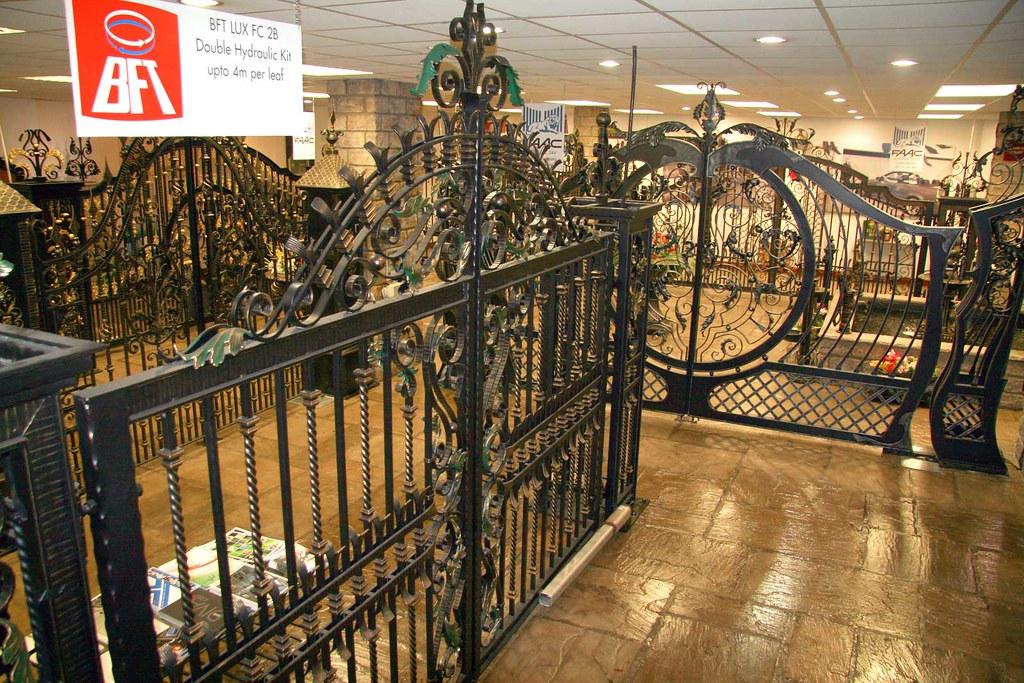 Wooden Gate Design Showroom 012: Custom-driveway-gates-showroom-009