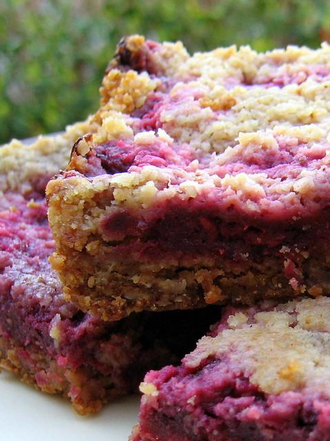 Raspberry Crumb Breakfast Bars Recipe | Gastronomy