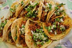 tostada, meal, carnitas, taco, food, dish, cuisine,