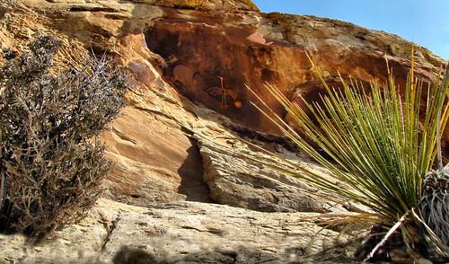 """Big Crane Petroglyph ~ """"In-situ"""" by Red Dirt Dawg"""
