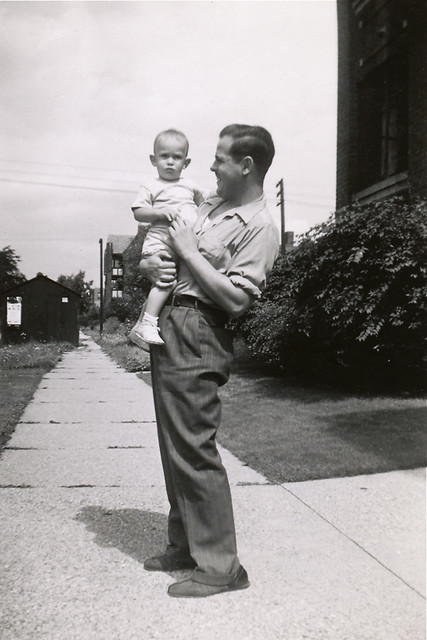 Uncle Raymond with Gary / Summer, 1943