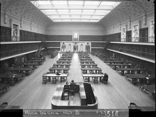 The Reading Room, Public Library of NSW, 1942, by Sam Hood