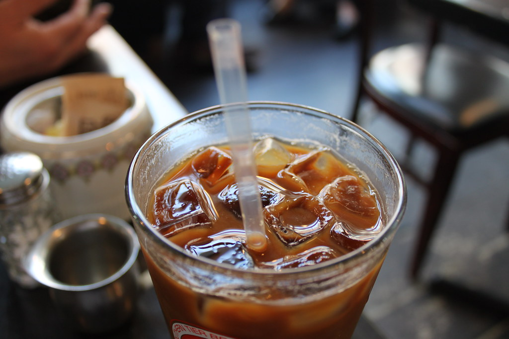 iced coffee with mocha flavoring...