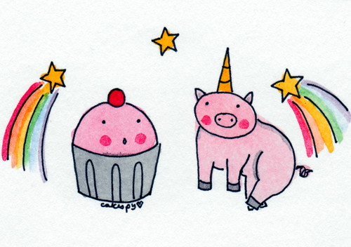 Cuppie and Pig Unicorn