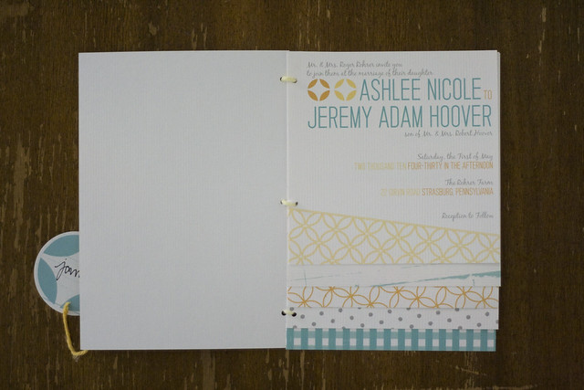 Country Chic Wedding Booklet Invitations wwwjuliaspoppiescom blog