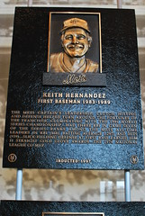 Keith Hernandez Hall of Fame Plaque