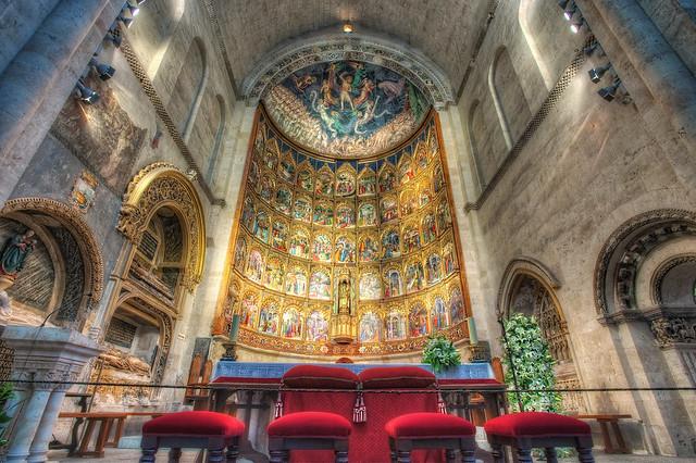 Altarpiece - Retablo, Catedral Vieja, Salamanca (Spain), HDR 2