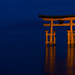 Miyajima Torii at night by jiquem