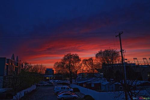 sunset usa us twilight idaho boise fiery