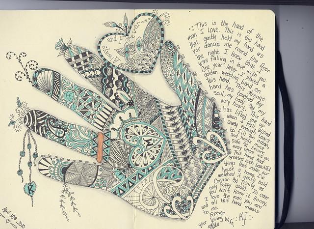 Marvin's Hand ~ Moleskine 8 x 5 1/4 Journal