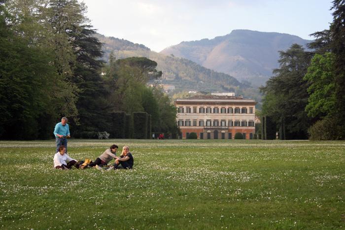 Villa Reale al atardecer