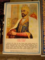 Portrait of Amir Temur in Gur Emir Mausoleum in Samarkand