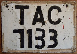 TRINIDAD and TOBAGO, 1990's ---RENUMBERED LICENSE PLATE